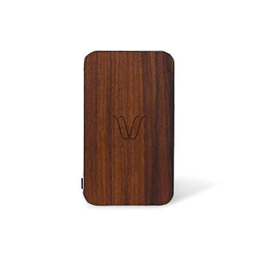 Woodie Milano Wireless powerbank met magneet+USB-poort voor iPhone, Samsung, Huawei en alle compatibele Qi-apparaten (Rosewood)