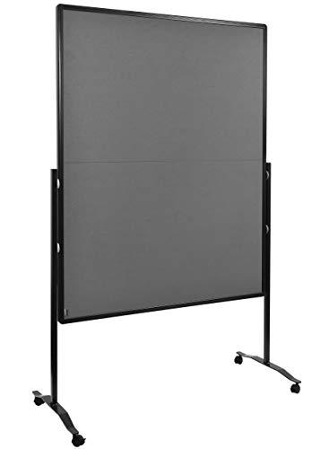 Legamaster 7-205510 Moderationswand Premium Plus, klappbar, höhenverstellbar im Hoch- oder Querformat, filzbespannt, grau
