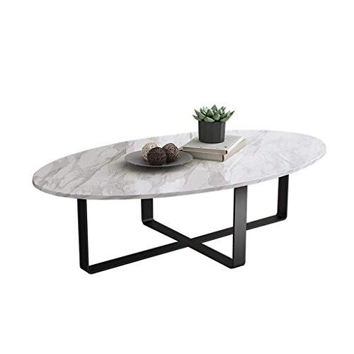 MING-MCZ Home Office Desks Nordische Stil Marmoroberfläche geformt Couchtisch Marmortisch Couchtisch, Schmiedeeisen Esstisch Nest Tables (Farbe: Schwarz + Weiss) Faltschachtel. (Color : Black+White)