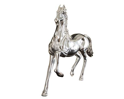 KMG Horse Statue Home Decor- 10 Lbs   15' Premium Horse Large Statue   Sculpture  Figurine of Aluminum Solid Metal, Handcrafted   Hand Carved   Polished, Solid Pure Non-decolorizing Aluminum Material