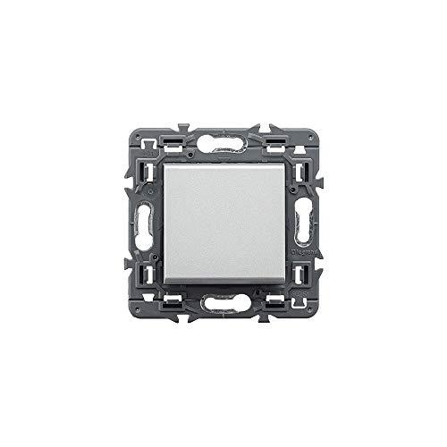 Interruptor Valena Next, unipolar, 10 AX, 230 V, aluminio (Legrand 741342)