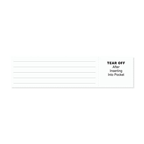 PDC 8610-01-PDA Insert Cards Paper, Adult/Pedi, White, Pack of 250