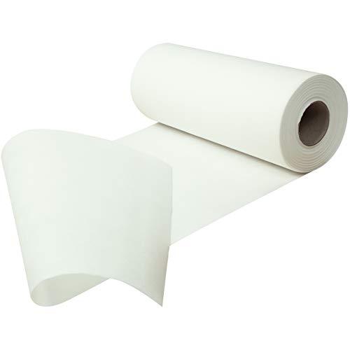 Sensalux Tischläufer, Tischband, stoffähnliches Vlies, Standard 100 by Oeko-TEX® - Klasse I Zertifiziert, 30cm x 25m, Weiß