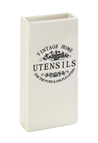 WENKO Umidificatore con motivo Vintage - Umidificatore per ambiente con motivo per il radiatore, Ceramica, 9 x 19 x 4 cm, Bianco