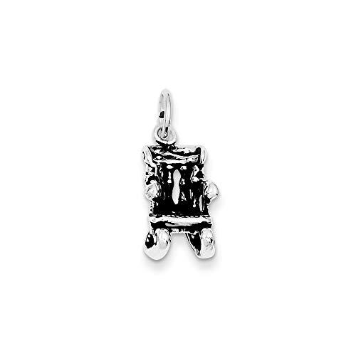 925 sterling zilver, antieke schommelstoel, bedel
