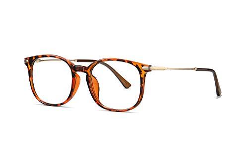 occhiali antiaffaticamento uomo SKILEC Occhiali Anti Luce Blu Occhiali Antiriflesso Occhiali da Lettura Uomo Donna con Struttura in Metallo Antiaffaticamento Filtro Protezione UV Blu - Occhiali per Computer