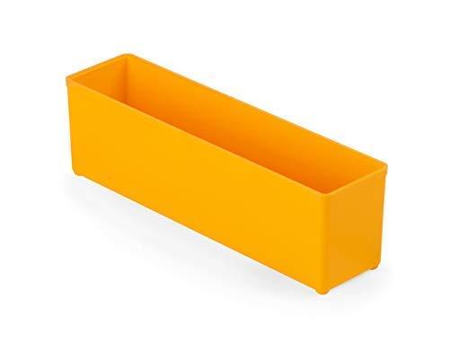 Bosch Sortimo Insetboxenset F3 | Bosch Sortimo L-BOXX | 4 Stück orange | Ideale Einsatzboxen für Sortimentskästen | Boxen Ordnungssystem