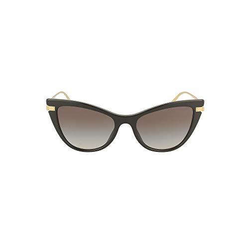 Occhiali da Sole Dolce & Gabbana LOGO PLAQUE DG 4381 BLACK/GREY SHADED 54/18/140 donna