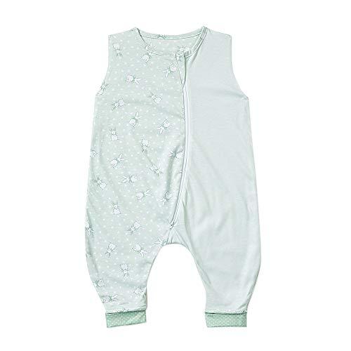 Gesslein 762172 Bubou Babyschlafsack Sommer mit Beinen : Temperaturregulierender Sommerschlafsack, Jersey Schlafsack, Baby/Kleinkinder Größe 90 cm, mint Häschen