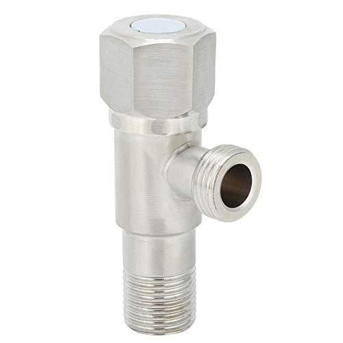 Fdit La válvula de parada del ángulo G1/2 de acero inoxidable reduce el agua decisivo el grifo de la válvula del grifo del calentador del agua Accesorios de la válvula de parada