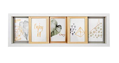 Gallery Solutions 5er Bilderrahmen Collage zum Schieben, Weiß und Mixed, 5X 10x15 cm