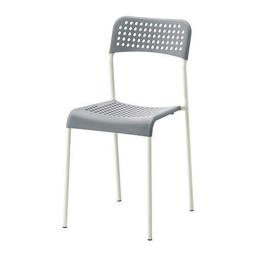IKEA ADDE -Stuhl grau weiß