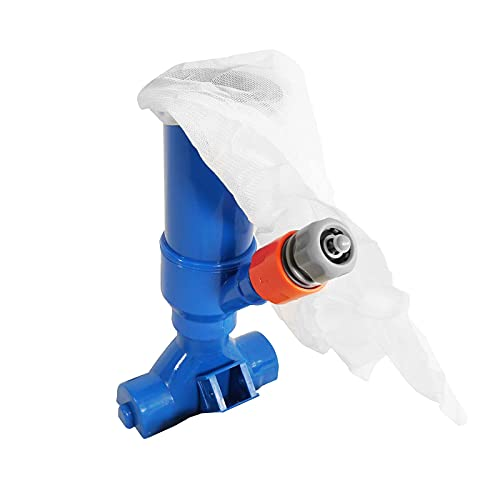 well2wellness® Poolsauger Pool Bodensauger Venturisauger Blue Magic mit Teleskopstange (3 x 50cm)