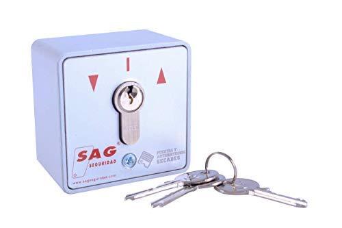 Cerradura de contacto eléctrico para apertura y cierre de puertas y persianas
