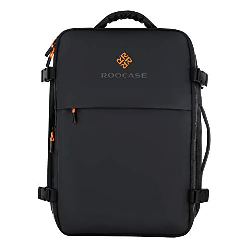 rooCASE Venice Travel Backpack 25L - 15.6 inch Laptop for Business Weekender Luggage Carry On Backpack for International Travel Bag for Men and Women, 2 Free Packing Cubes Included