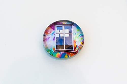 buntes Fenster Graffiti Comic Street Art Glas Magnet Kühlschrankmagnet gift for Kids