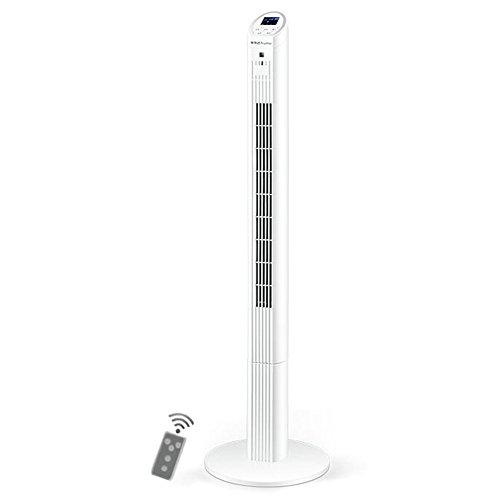 CL& Blanc, Vitesse du Vent à Trois Blocs, Affichage à Del, Alimentation en air à Grand Angle, Fonctionnement Simple, 7,5 Heures de minuterie, Ventilateur de Table Vertical sans Ventilateur. air-cond
