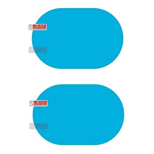 EROSPA® Rückspiegel/Seitenspiegel Auto wasserabweisende Folie - Anti-Beschlag Aufkleber - 2er Set