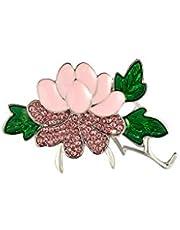 Nobranded Moda Femminile Fiore in Lega di Zinco Pin Spilla Pin Charm Rosa Dentellare