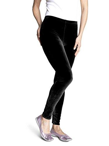 SOXON Nicki-Hose - Die flauschige Wohlfühl-Hose für jeden Tag (S/M, Schwarz)