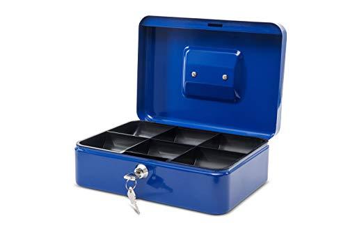 Maul Geldkassette 3, Blau, Herausnehmbarer Hartgeldeinsatz, 250 x 90 x 191 mm, 5611337, 1 Stück