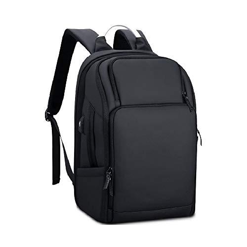 Mochila impermeable para portátil de 17 17.3 pulgadas para mujeres y hombres, unisex, para negocios, exteriores, viajes, juegos, con puerto de carga USB, color negro