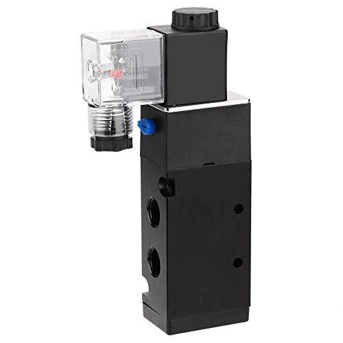 Yongenee Válvula solenoide eléctrica, Posición solenoide G1 / 4'Controlador de fluidos de Interruptor magnético electromagnético eléctrico de 5 Puertos para Sistema de transmisión neumática 4V310-8 2