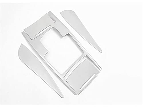 Lovelin17 Estilismo de automóviles Multimedia Handaños engranajes Panel de engranajes Cubiertas Pegatinas Engranajes Ajuste para Audi A6 C5 C6 Interior Auto Accesorios Auto ( Color Name : Silver )