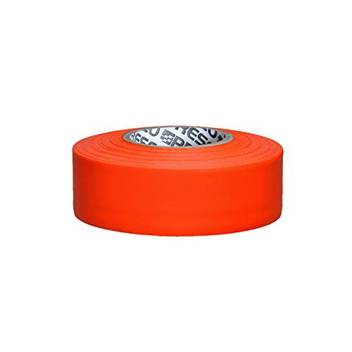 Presco PresGlo Taffeta Roll Flagging Tape: 1 in x 50 yds. (Neon orange)