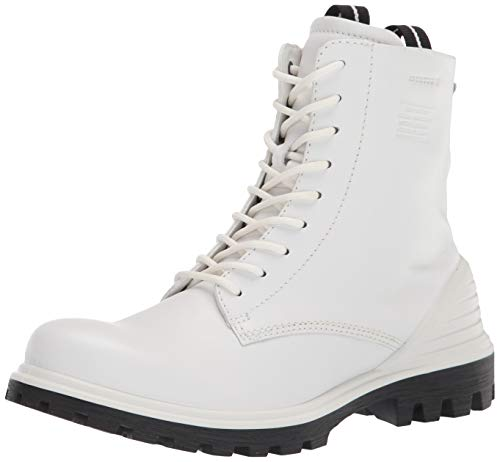 ECCO womens Tredtray High Cut Fashion Boot, White, 8-8.5 US