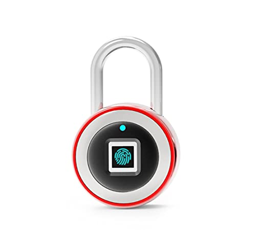 Fingerprint Padlock, IP65 Waterproof Ultra Light, 304 Stainless Steel, One Touch with USB Charging Open Gym Lock for Locker, School, Suitcase (No App, No Bluetooth & No Breaking into Troubled)
