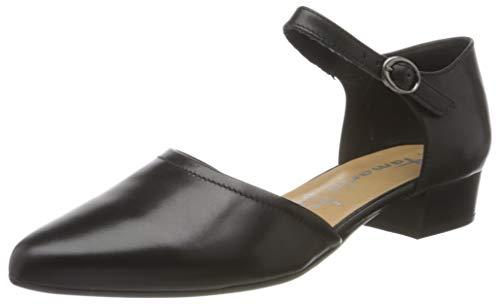 Tamaris Damen 1-1-24210-24 Geschlossene Sandalen, Schwarz (Black Leather 003), 38 EU