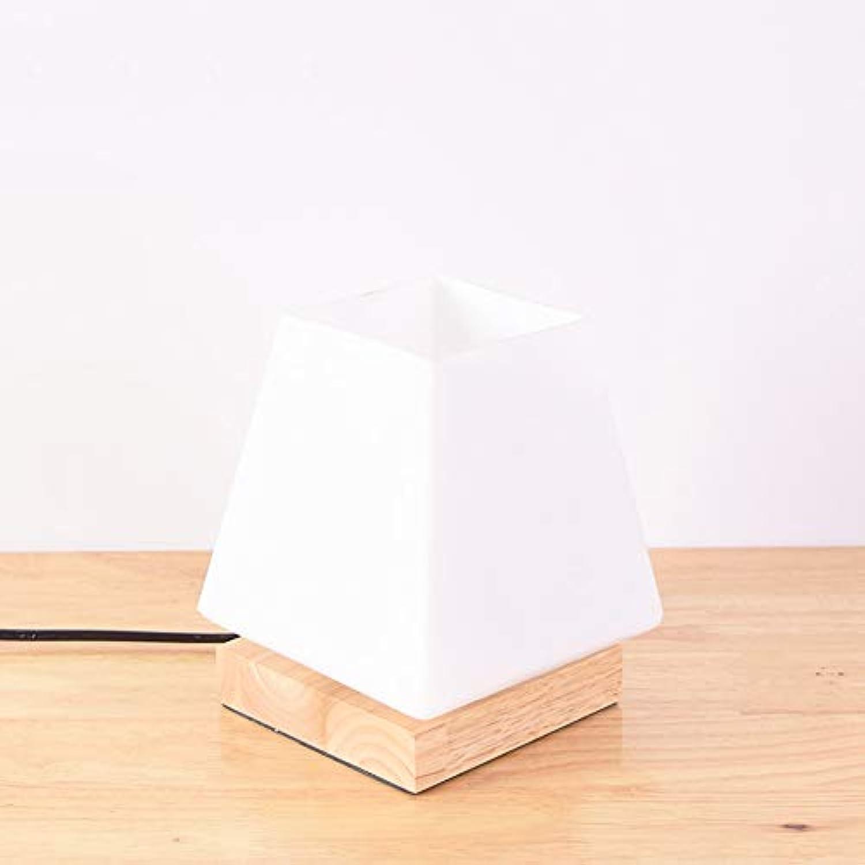 ZQQ Kreatives Warmes Nachtlicht des Festen Holzes, Einfache Moderne Schreibtischschlafzimmer-Nachttischlampe,threeFarbelight