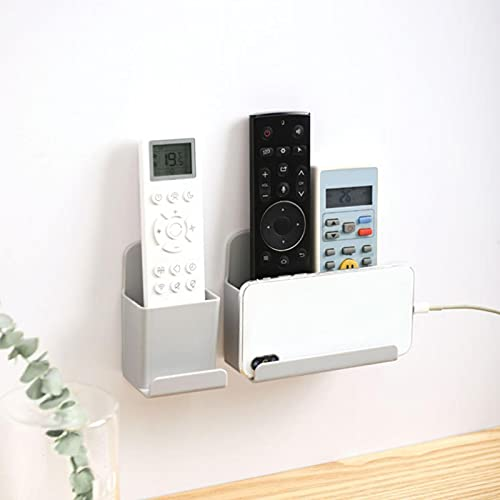 AUTUUCKEE Soporte para mando a distancia de TV, organizador de pared, organizador de almacenamiento de medios sin agujeros para mesita de noche