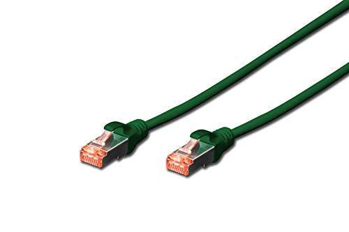 DIGITUS Patch-Kabel Cat-6 - 0.5m - S-FTP Schirmung - Kupfer-Adern - LSZH Mantel - Netzwerk-Kabel - Grün
