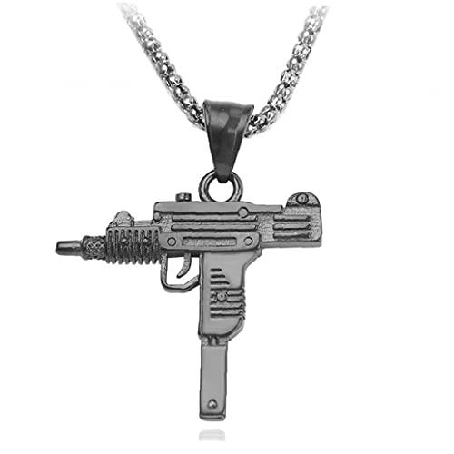 Pinicecore Forma De Punk Collar Colgante Rifle Chainhip Hop Ejército Color Stylecool Hombres Joyería Regalo para Él