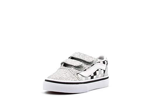 Vans Junior Schoenen Lage Sneakers VN0A38JNV3J1 Oude Skool V Maat 22 Wit/Zilver