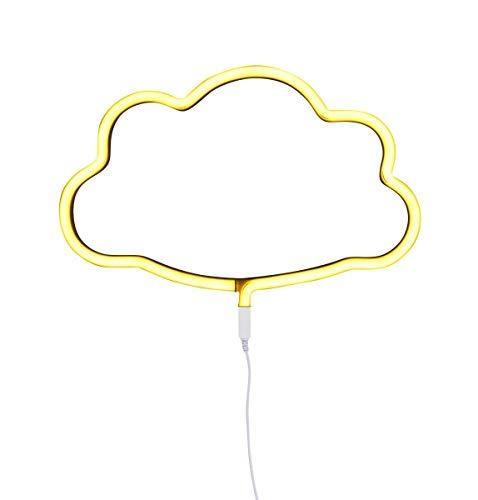 A Little Lovely Company ltne040 – Lampes Néon En Forme De Nuage jaune