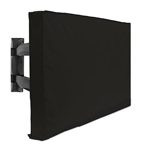 Outdoor TV Cover - 42' Model for 40' - 43' Flat Screens - Slim Fit - Weatherproof Weather Dust Resistant Television Protector - Black
