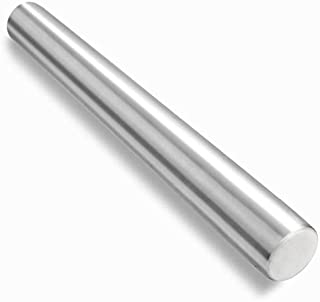 Checkered Chef Stainless Steel French Rolling Pin, Metal Rolling Pin for Baking, Pasta, Fondant, Cookies, Pizza and Dough....