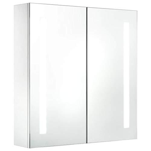 Goliraya Armario de Cuarto de baño con Espejo y LED,Espejo baño,Espejo Pared,Espejo con luz,Armario baño,Espejo de Pared,Armario baño Pared,Espejo baño led,Espejos de baño con led,Armario Espejo baño