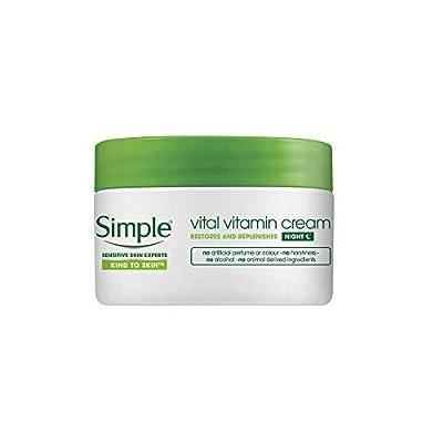 SIMPLE 50 ml Vital Vitamin Night Cream, 0.0719897 kg, TOSIM132 from Unilever