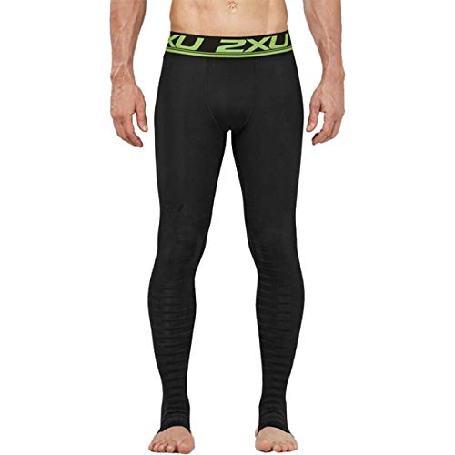 2XU Men's Elite Power Recovery Compression Tights, Black/Nero, Large