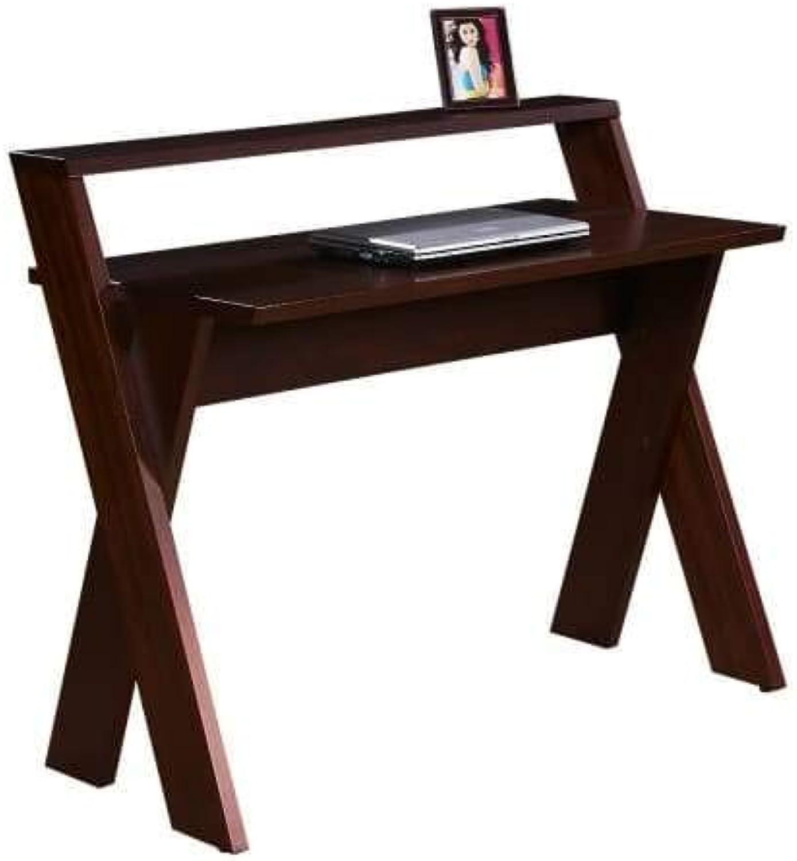 New Xenos Study Computer Desk - Dark Walnut