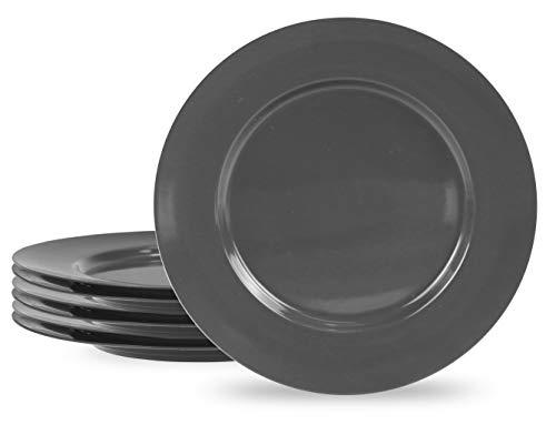 Reston Lloyd Melamine, Dinner Plate, Gray