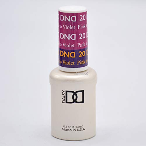 DND Daisy Soak Off Gel Mood Change - Pink to Violet 20