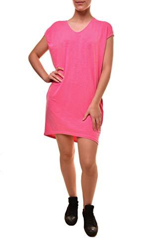 Sundry Damen Frühling Tunika Taschenkleid Pigment Cherry - Pink - Mittel