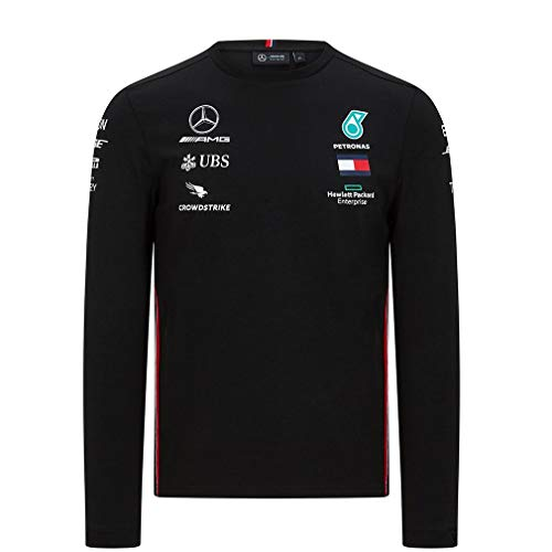 Official Formula One - Mercedes-AMG Petronas Motorsport 2020 - Team Langarm-T-Shirt - Schwarz - Size: L