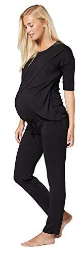 Chelsea Clark Para Mujer Pijama Premamá Embarazo Lactancia Ropa de Salón (Negro, M)