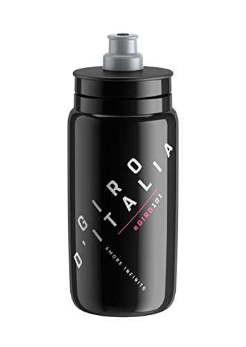 Elite Fly Giro Italia 2018, Borraccia Unisex – Adulto, Nero, 550 ml